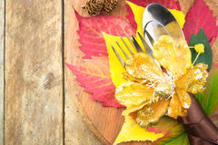 Arrangement de table de thanksgiving Photo stock