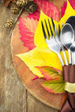 Arrangement de table de thanksgiving Images stock