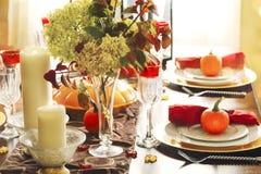 Arrangement de table de thanksgiving images libres de droits