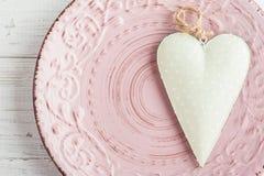 Arrangement de Tableau avec le coeur Photos stock