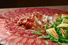Arrangement of Delicatessen Cold Cuts Stock Image