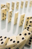 Arrangement Of Domino Pieces Collapsing Stock Photography