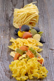 Arrangement of Dry Pasta Stock Photography