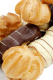Arrangement of Eclair and Profiterole Royalty Free Stock Photo