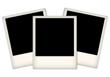 Arrangement of empty photo frames Royalty Free Stock Photo