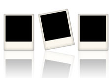 Arrangement of empty photo frames Royalty Free Stock Image