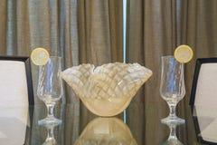 Arrangement en verre de Tableau Photo stock