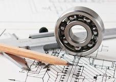 Arrangement et roulement mécaniques images stock