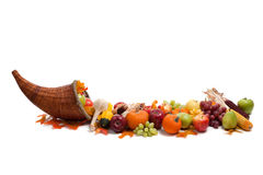 Arrangement of fall fruits and vegetables Royalty Free Stock Photo