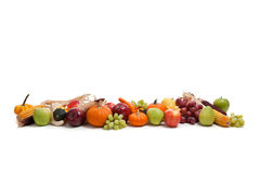 Arrangement of fall fruits and vegetables Royalty Free Stock Images