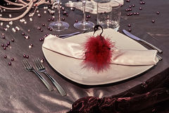 Arrangement for festive dinners - 5 stock images