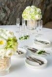 Arrangement floral à une cérémonie de mariage Photos libres de droits