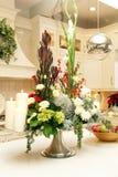 Arrangement floral de Noël Photographie stock