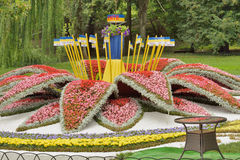 Arrangement of flowers in the park Stock Photography