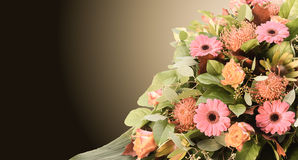 Arrangement with fresh colorful flowers. Stock Photo
