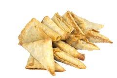 Arrangement of Fresh Deep Fried Samoosa Snacks Stock Photography