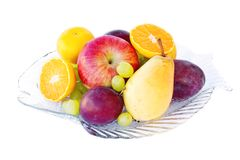 Arrangement of fresh fruits Stock Photography