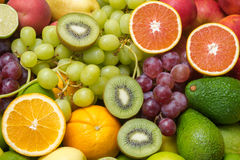 Arrangement fresh fruits and vegetables Royalty Free Stock Photo