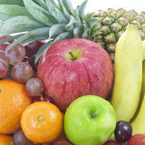 Arrangement fresh fruits and vegetables Royalty Free Stock Photos