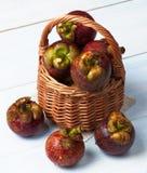 Arrangement of Fresh Mangosteen Stock Image