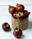 Arrangement of Fresh Mangosteen Royalty Free Stock Image