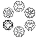 Arrangement of gears. Industrial still life - arrangement of gears Stock Images