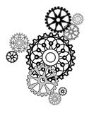 Arrangement of gears. Industrial still life - arrangement of gears Stock Photography