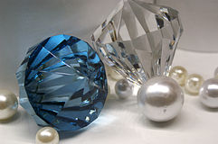 Arrangement of Gemstones and Pearls Stock Photography