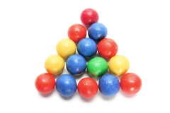 Arrangement of Gumballs. On Isolated White Backgorund stock photography