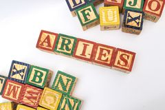 The arrangement of letters forms one word, version 134 stock photography