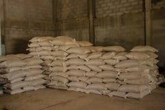 Arrangement with lots of fertilizer sacks. royalty free stock image
