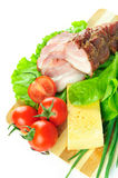 Arrangement with meat Royalty Free Stock Photos