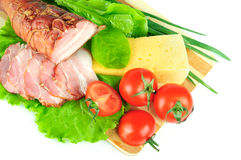 Arrangement with meat Royalty Free Stock Photography