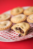 Arrangement of Mince pies Royalty Free Stock Photos