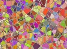 Arrangement mosaic from wild stones Royalty Free Stock Photos