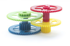 Multicolour cog Royalty Free Stock Image
