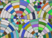 Arrangement of multicolored cobblestone. natural stones backgrou Stock Photos