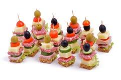 Arrangement Of Appetizers Stock Images