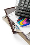 Arrangement of office supply Stock Photo