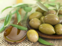 Arrangement with olives Royalty Free Stock Photo