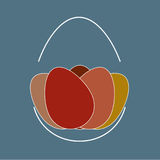 Arrangement of painted eggs Royalty Free Stock Photos