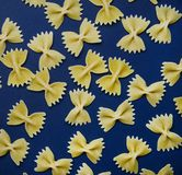 Arrangement of pasta in the form of a bow royalty free stock images