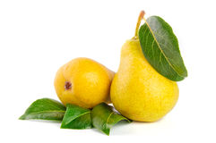Arrangement of pears Stock Photo