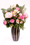 Arrangement of pink flowers and buds Stock Image
