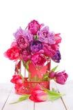 Arrangement of pink tulips Stock Image