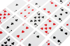 Arrangement of Playing Cards Stock Photography