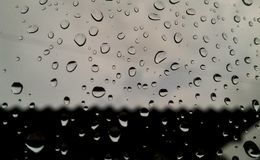 Raindrops background. Arrangement of raindrops in a window, abstract figures, shapes and forms Royalty Free Stock Photography