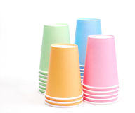 Arrangement of recycling colorful paper glass. Arrangement of recycling paper glass Stock Photo