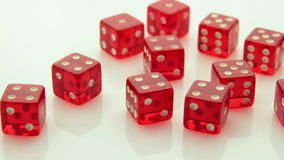 Arrangement of red dice tracking stock footage