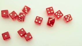 Arrangement of red dice tracking stock video footage